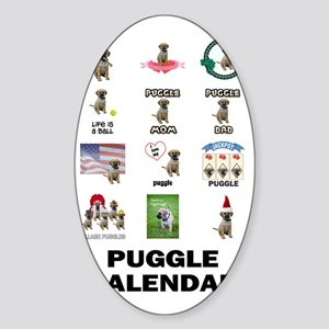 FIN-puggle-VERTCAL-cover Sticker (Oval)