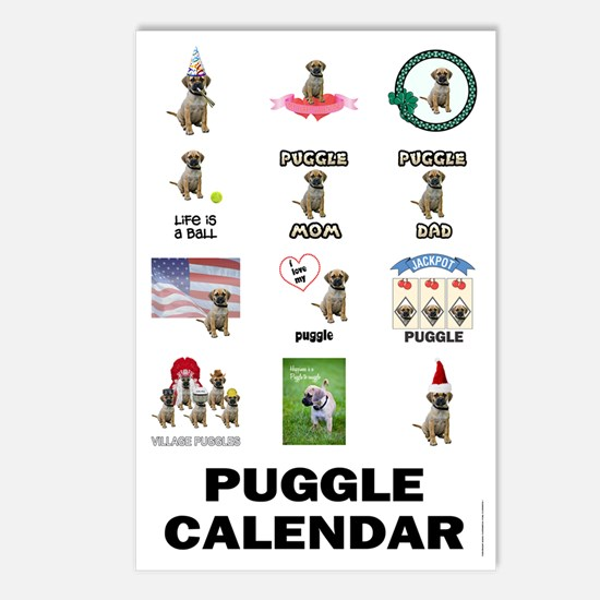 FIN-puggle-VERTCAL-cover Postcards (Package of 8)