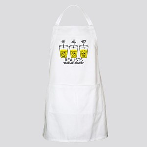 Half Full Half Empty Pee Realist Glass Apron