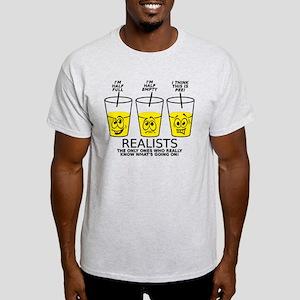 Half Full Half Empty Pee Realist Glass T-Shirt