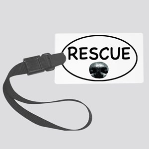 Rescue nose oval-white Large Luggage Tag