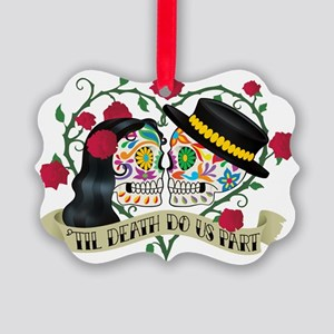 Day Of The Dead Wedding Picture Ornament