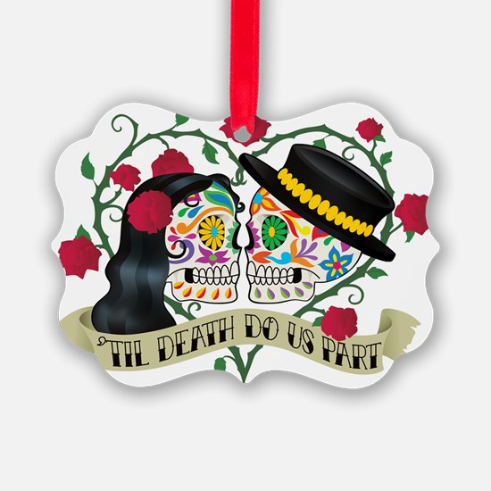 Day Of The Dead Wedding Ornament