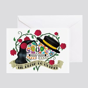 Day of the dead greeting cards cafepress day of the dead wedding greeting card m4hsunfo