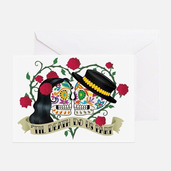Day Of The Dead Wedding Greeting Card