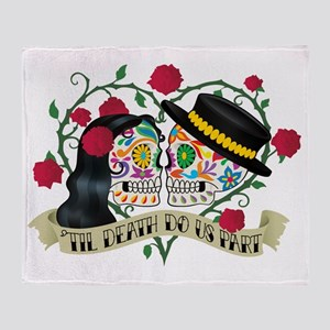 Day Of The Dead Wedding Throw Blanket