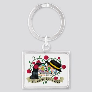 Day Of The Dead Wedding Landscape Keychain