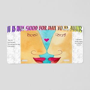 Adam and Eve Aluminum License Plate