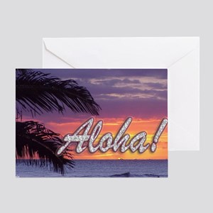 Aloha-GermainesSunset_14x10 Greeting Card