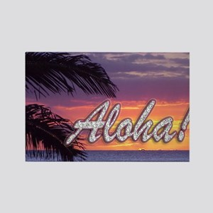 Aloha-GermainesSunset_14x10 Rectangle Magnet