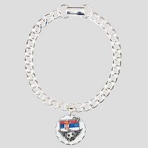 Soccer fan Serbia Charm Bracelet, One Charm