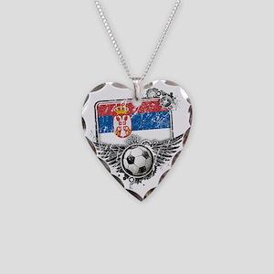 Soccer fan Serbia Necklace Heart Charm