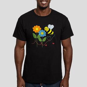 beeflowersbeelove Men's Fitted T-Shirt (dark)