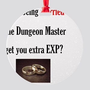 2-Married to DM Round Ornament