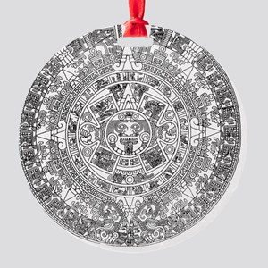 aztec b Round Ornament