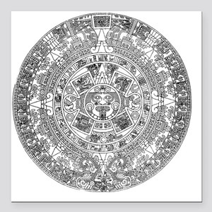 "aztec b Square Car Magnet 3"" x 3"""