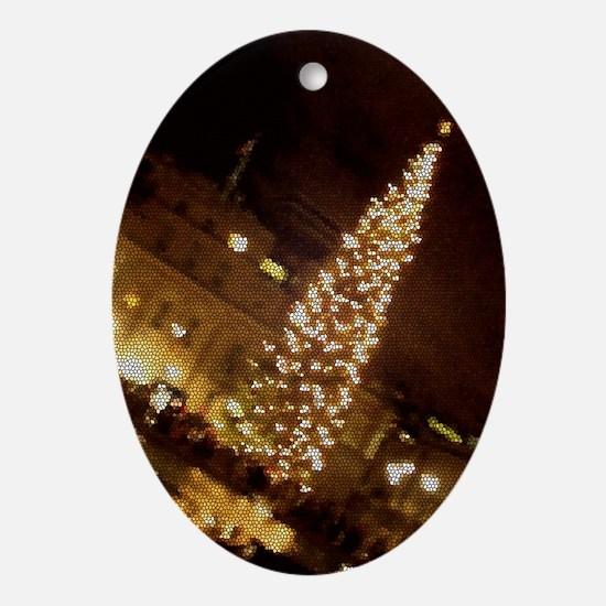 Christmas in Trafalgar Square Oval Ornament