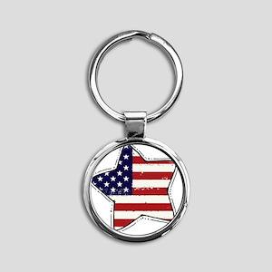 flag Round Keychain