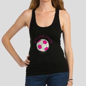 2-soccer2-pink Racerback Tank Top