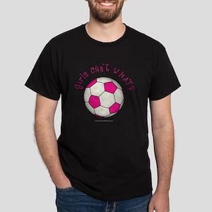 2-soccer2-pink Dark T-Shirt