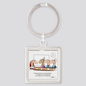 CASUAL FRIDAY by April McCallum Square Keychain