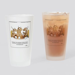HEADCOUNT by April McCallum Drinking Glass