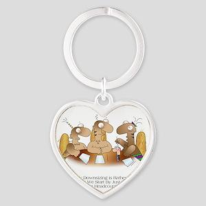 HEADCOUNT by April McCallum Heart Keychain
