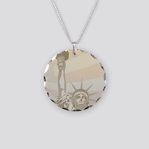 Franklin_Liberty Necklace Circle Charm