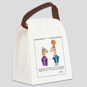 GOOGLE WAVE by April McCallum Canvas Lunch Bag