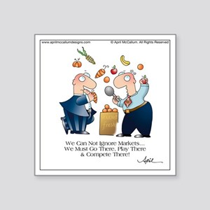 """MARKET PLAY by April McCall Square Sticker 3"""" x 3"""""""