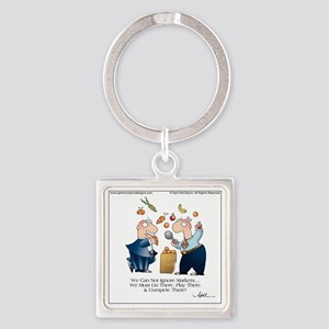 MARKET PLAY by April McCallum Square Keychain
