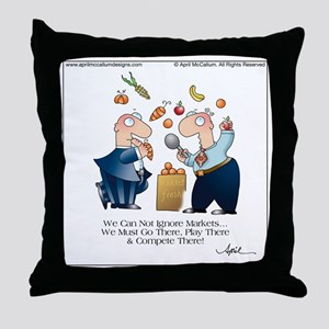 MARKET PLAY by April McCallum Throw Pillow