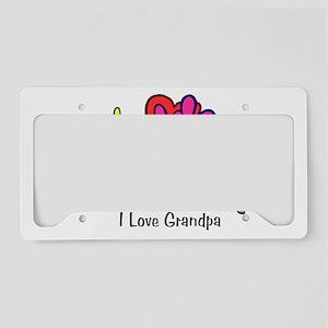 2-I_Love_GrandpaFS License Plate Holder