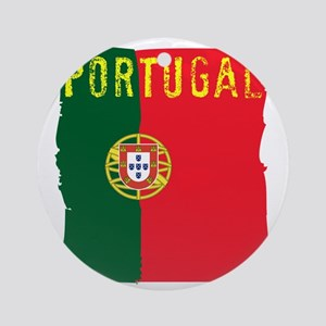 portugal flag Round Ornament