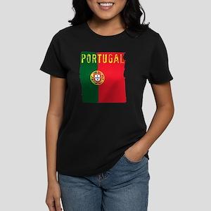 portugal flag Women's Dark T-Shirt