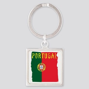 portugal flag Square Keychain