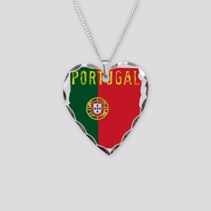 portugal flag Necklace Heart Charm