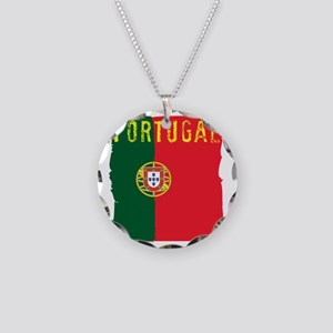 portugal flag Necklace Circle Charm