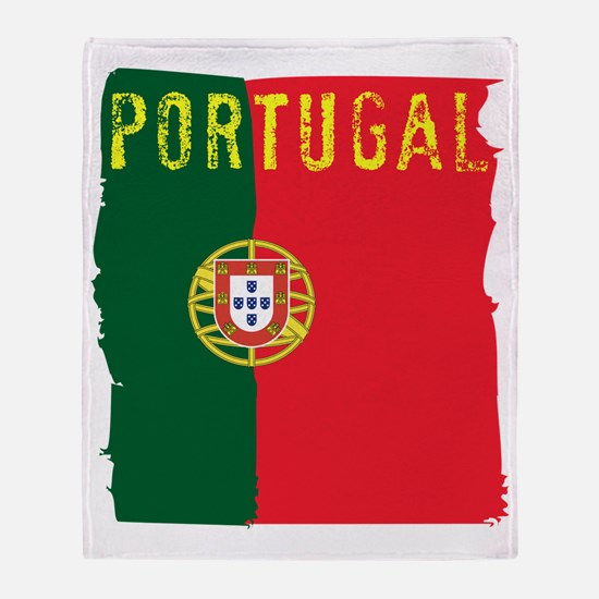 portugal flag Throw Blanket
