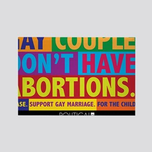 GAY_ABORTION_YARDSIGN Rectangle Magnet