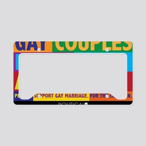 GAY_ABORTION_YARDSIGN License Plate Holder