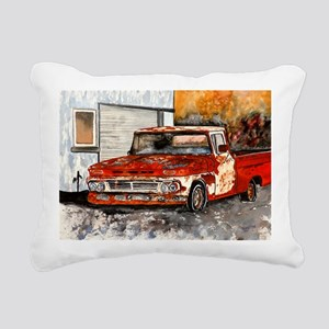 old pickup truck antique Rectangular Canvas Pillow