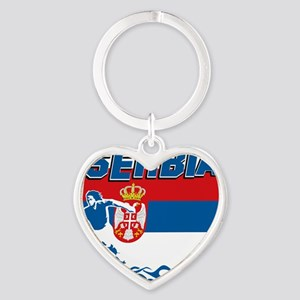soccer player designs Heart Keychain