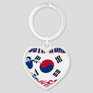 Soccer flag designs Heart Keychain