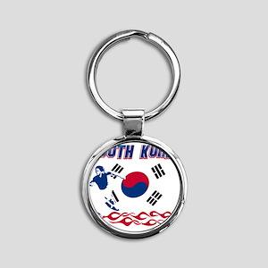 Soccer flag designs Round Keychain