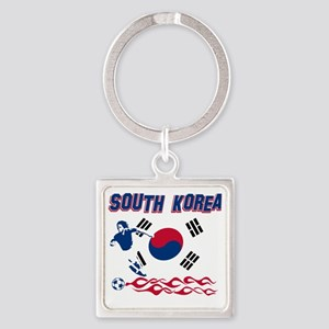 Soccer flag designs Square Keychain
