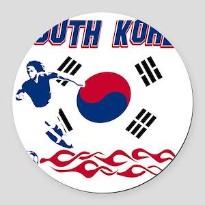 Soccer flag designs Round Car Magnet