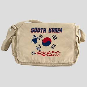 Soccer flag designs Messenger Bag