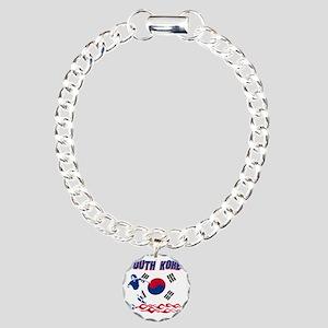 Soccer flag designs Charm Bracelet, One Charm