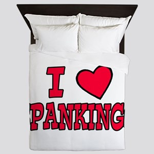I love spankings Queen Duvet